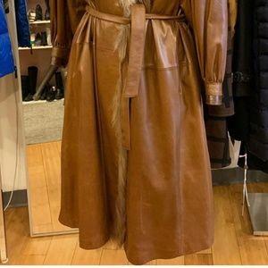 Beltrami Jackets & Coats - Vintage Beltrami Leather, Snakeskin/Fox Fur Trench